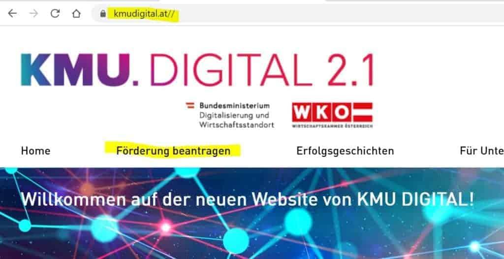 KMU Digital Förderungen beantragen